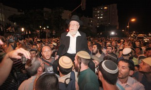 Kiryat Arba Chief Rabbi Dov Lior  in J'lem