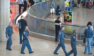 Police at Ben Gurion Airport [file]
