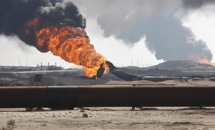 Gas pipeline explosion [illustrative]