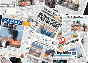 A selection of international newspapers [file]