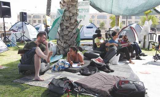 Tent protestors claim haredim are given more benef