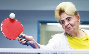 Elderly ping pong