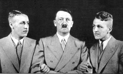 Wagner's grandsons with Hitler.