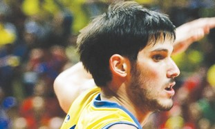 Omri Casspi in Maccabi TA uniform