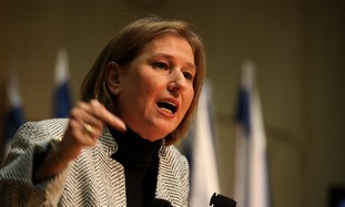 Opposition leader Tzipi Livni