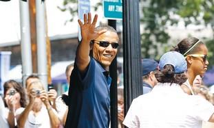 US President Barack Obama on vacation
