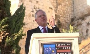 Glen Beck at Restore Courage rally in Jerusalem