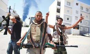 Rebels in Tripoli during Libya uprising