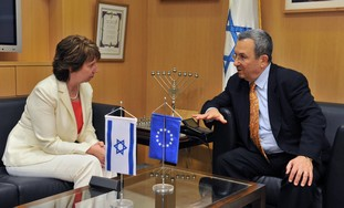 Catherine Ashton and Ehud Barak