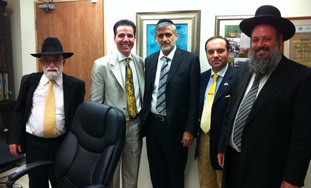 Yishai meets with delegation from Turkey