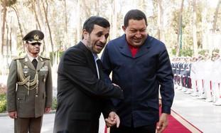 Iran's Ahmadinejad and Venezuela's Chavez