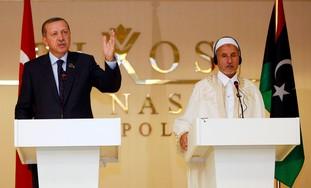Erdogan in Libya with NTC leader Jalilin