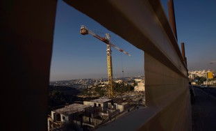 A construction site in J'lem's  Gilo neighborhood