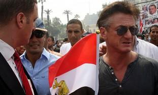 Sean Penn at Tahrir Square