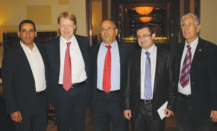 Knesset's Christian Allies Caucus, Malan 2nd left