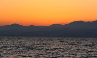 The Kinneret at sunset