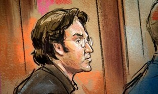 Court sketch of alleged Syrian spy Mohamad Soueid.
