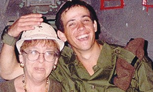 Nachshon Wachsman and his mother Esther.