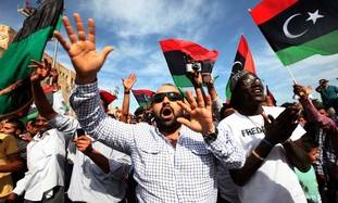 Libyans celebrate news of Muammar Gaddafi's death