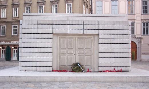 Holocaust memorial on Judenplatz in Vienna.
