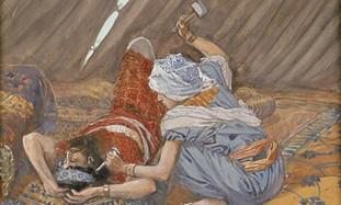 Yael smote Sisera, and Slew Him by James Tissot.