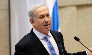 Prime Minister Binyamin Netanyahu in the Knesset