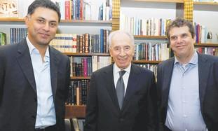 President Shimon Peres, Nikesh Arora, Meir Brand
