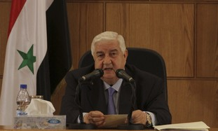 Syrian Foreign Minister Walid Mouallem
