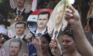 pro-Assad demonstration, Syria