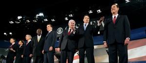 Republican candidates at debate