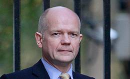 Britain's Foreign Secretary William Hague arrives