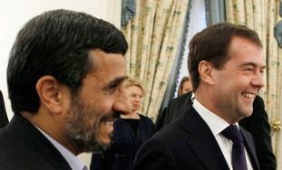 Russia's Medvedev, Iran's Ahmadinejad, Baku