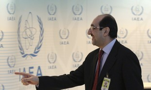 Syria's IAEA ambassador Sabbagh attends conference
