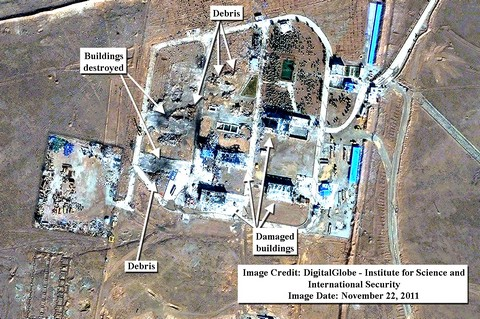 Satelite image of Iranian base (DigitalGlobe - Institute for Science and International Security).