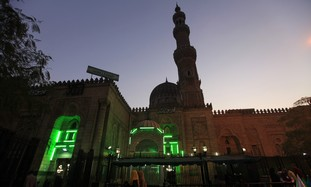 Sayyida Zainab mosque is seen in Cairo