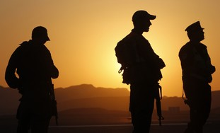 IDF soldiers north of Eilat, Sinai