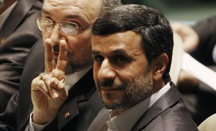 Iranian President Mahmoud Ahmadinejad at UN