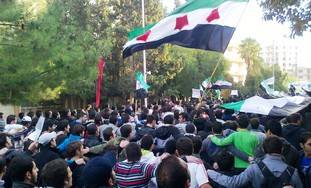 Anti-Assad protests in Homs, Syria