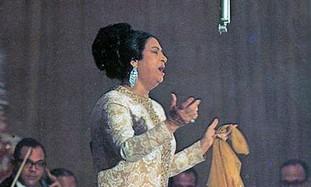 Famed Egyptian Singer Umm Kulthum.