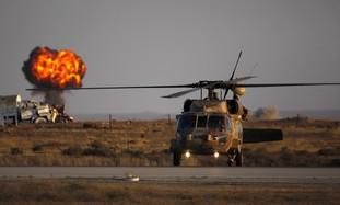 Black Hawk helicopter at Hatzerim base