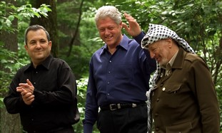 Clinton, Barak, Arafat at Camp David