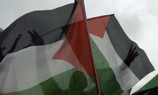 Palestinian flags in Ramallah [file]