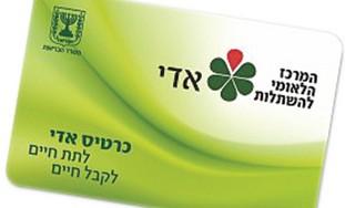 Adi organ donor card