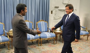 Iranian President Ahmadinejad, Turkish FM Davutogl