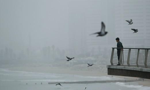 Tel Aviv in the winter.