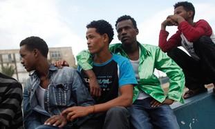 African migrants in Tel Aviv.