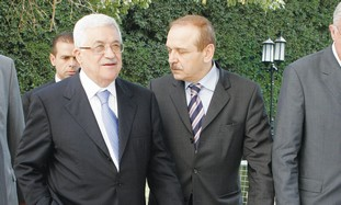 Mahmoud Abbas and Yasser Abed Rabbo [file photo]