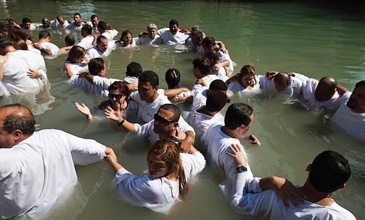 Baptisim in the Jordan River and Tiberias