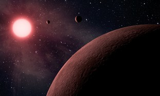 Artist's rendition of exoplanets