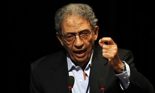 Egyptian presidential candidate Amr Moussa.